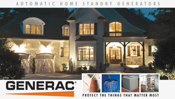 Generac standby generators ensure that your home always has electricity.