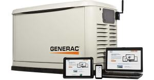 Generac generator with Mobile Link technology. Know what your generator is doing even if you aren't in Louisiana.