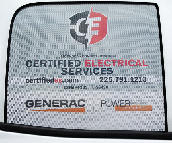 Certified Electrical Services is proud to serve the state of Louisiana!  Our electricians are licensed, bonded and insured!
